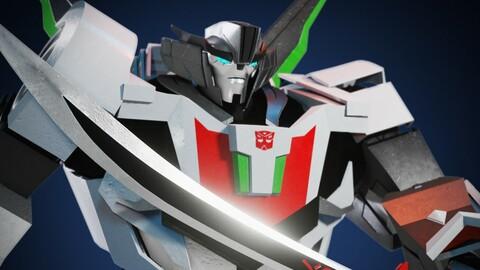 3D Wheeljack Transformers Prime 3D Character Rig