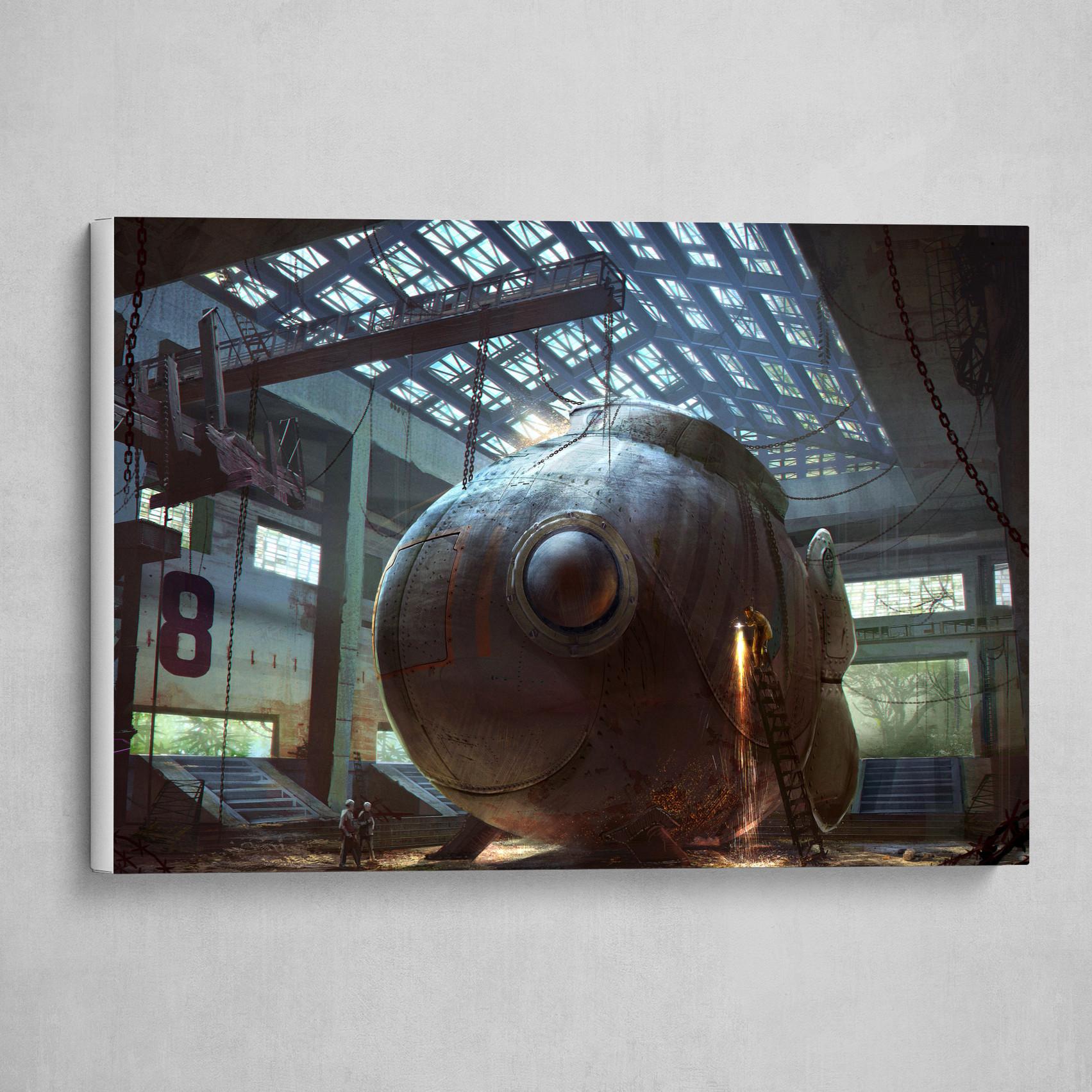 Happy Sci-Fi Submarine Fish Hangar
