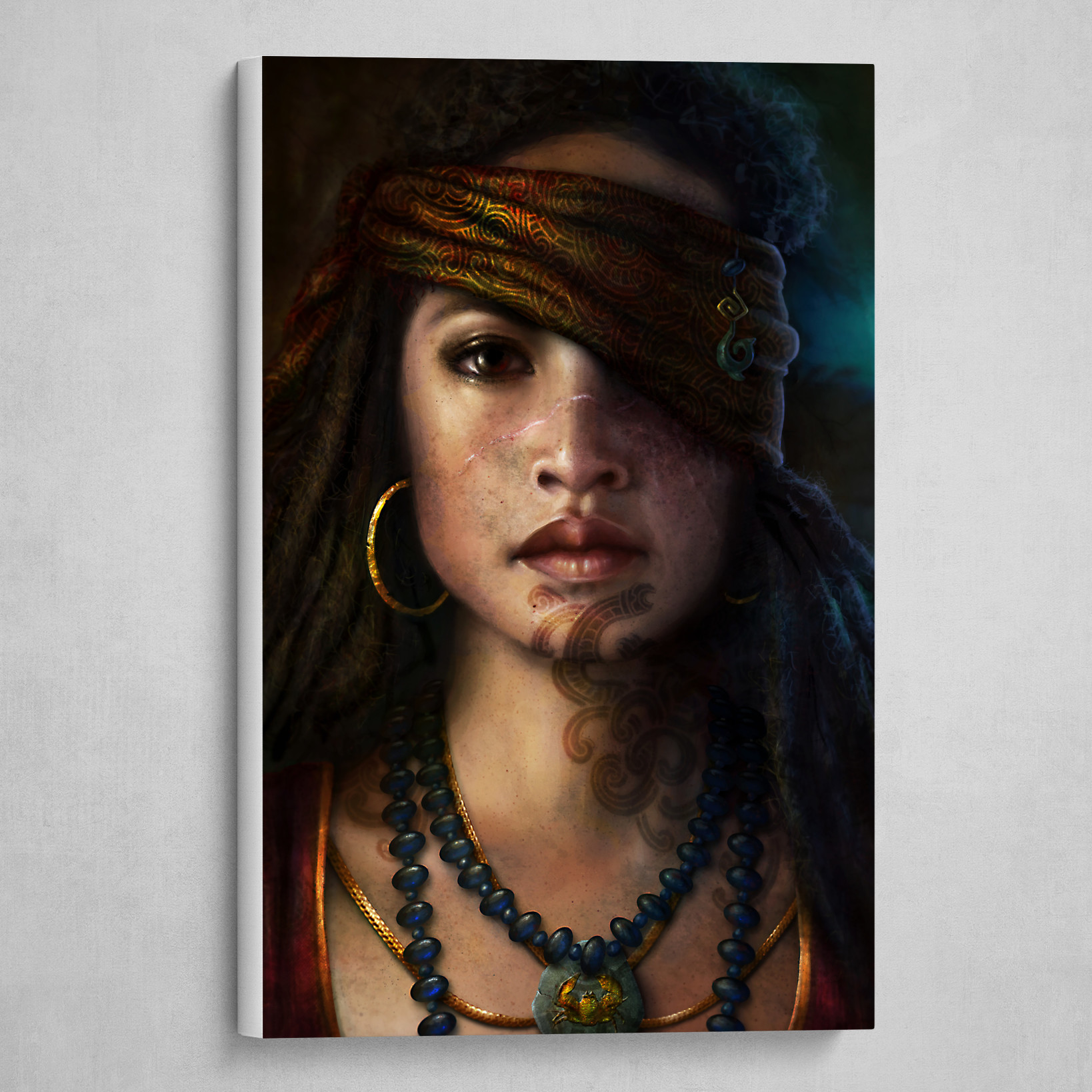 Maori Pirate Princess Portrait