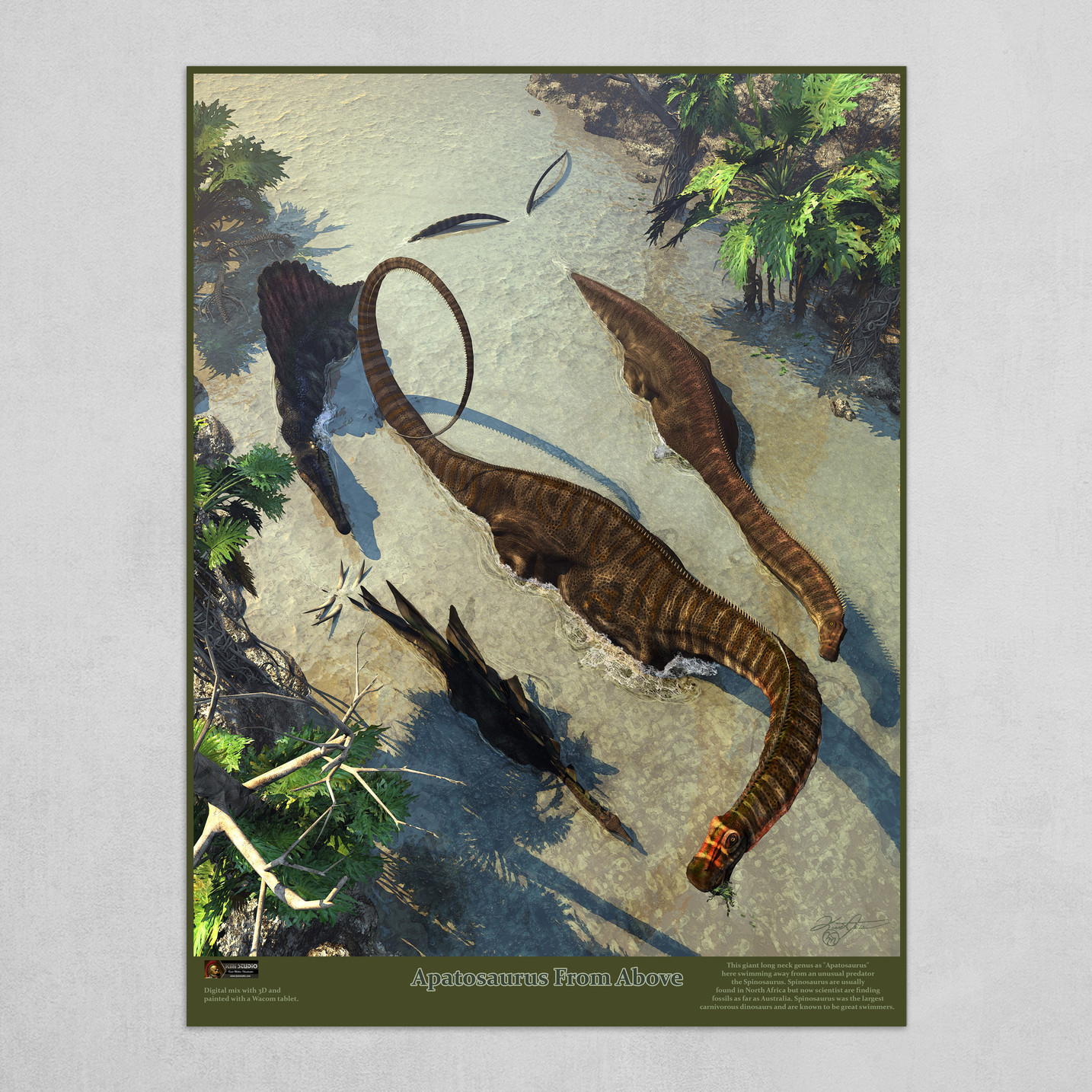 Art print POSTER CANVAS A Sea Snake Swims