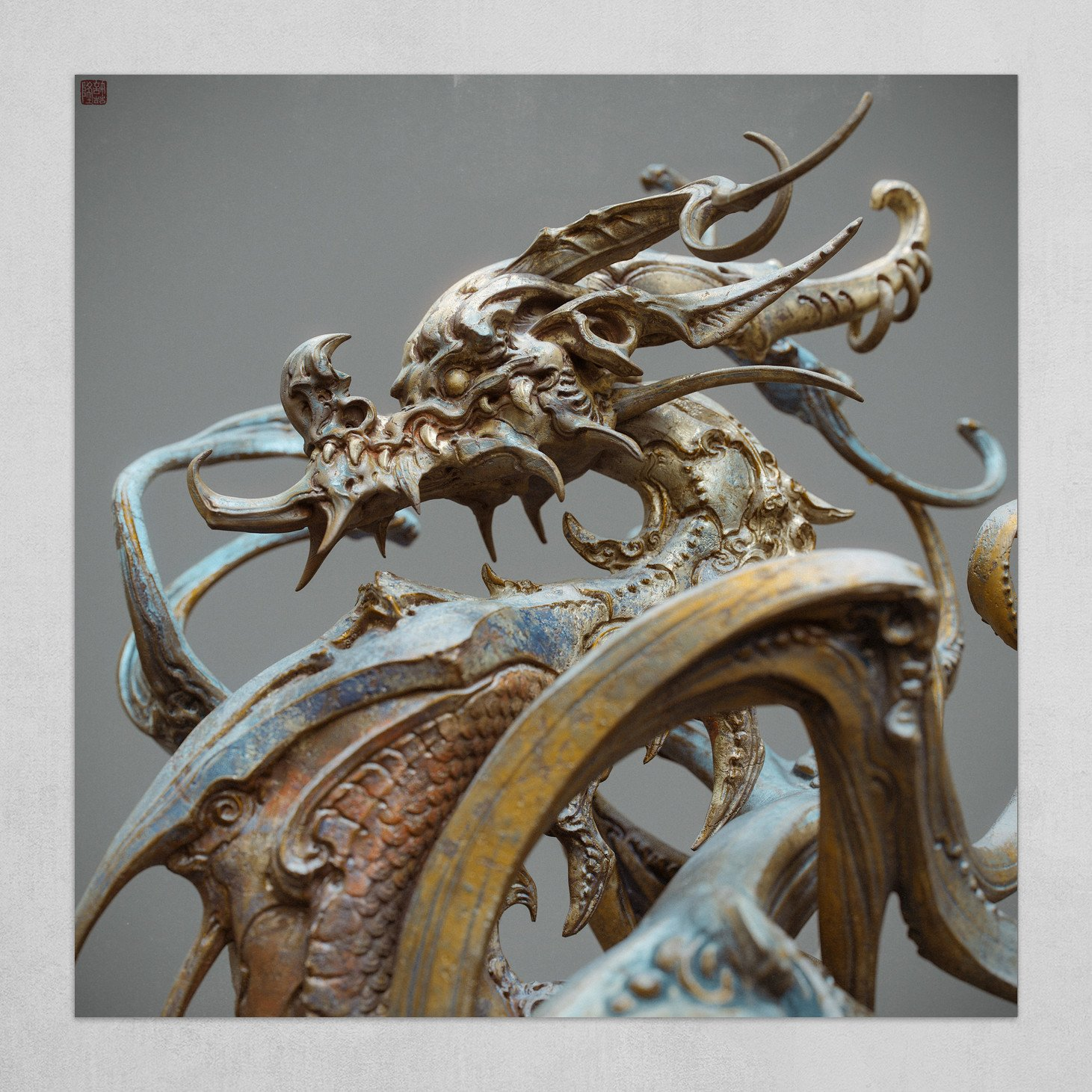 Dragon statue(A)