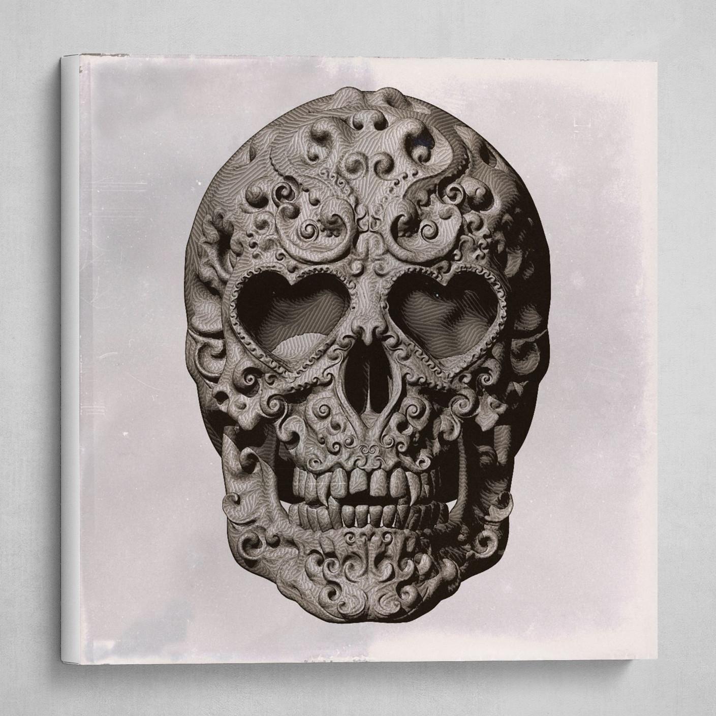 Mexican Skull Calavera Day of the dead themed - no signature Sepia tone