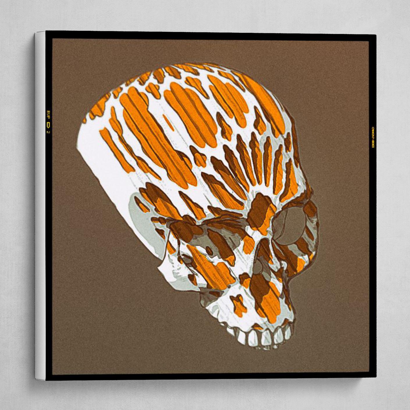 orange gothic skull