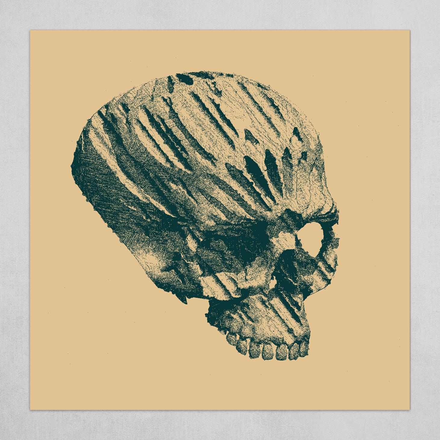 yellow skull gothic
