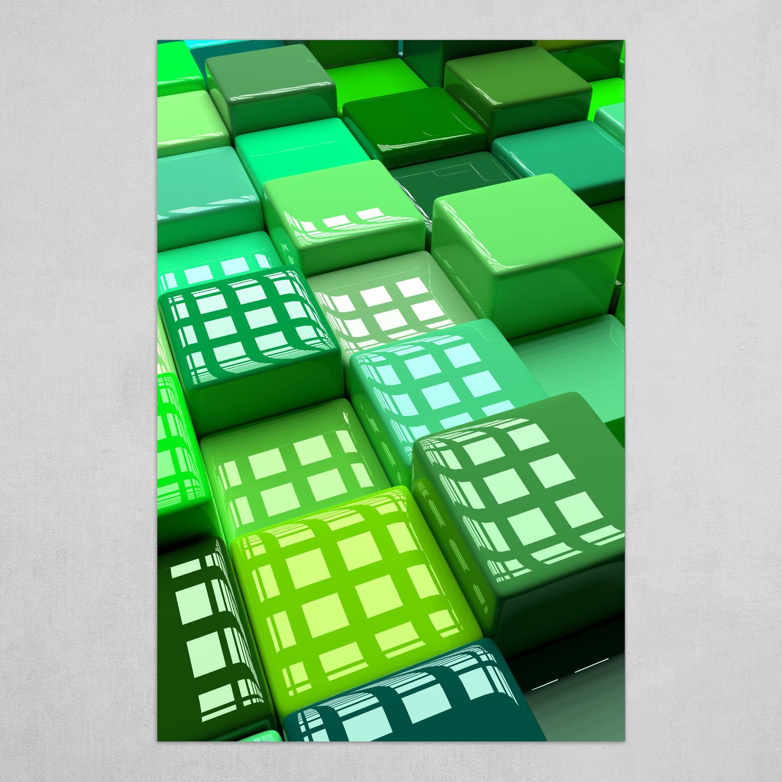 Shades Of Green Art Poster By Jason Miller