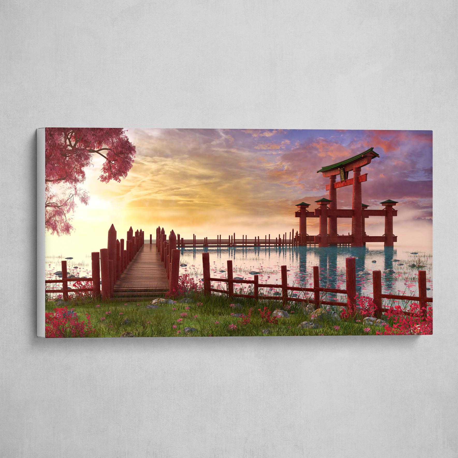 Japanese Torii Landscape