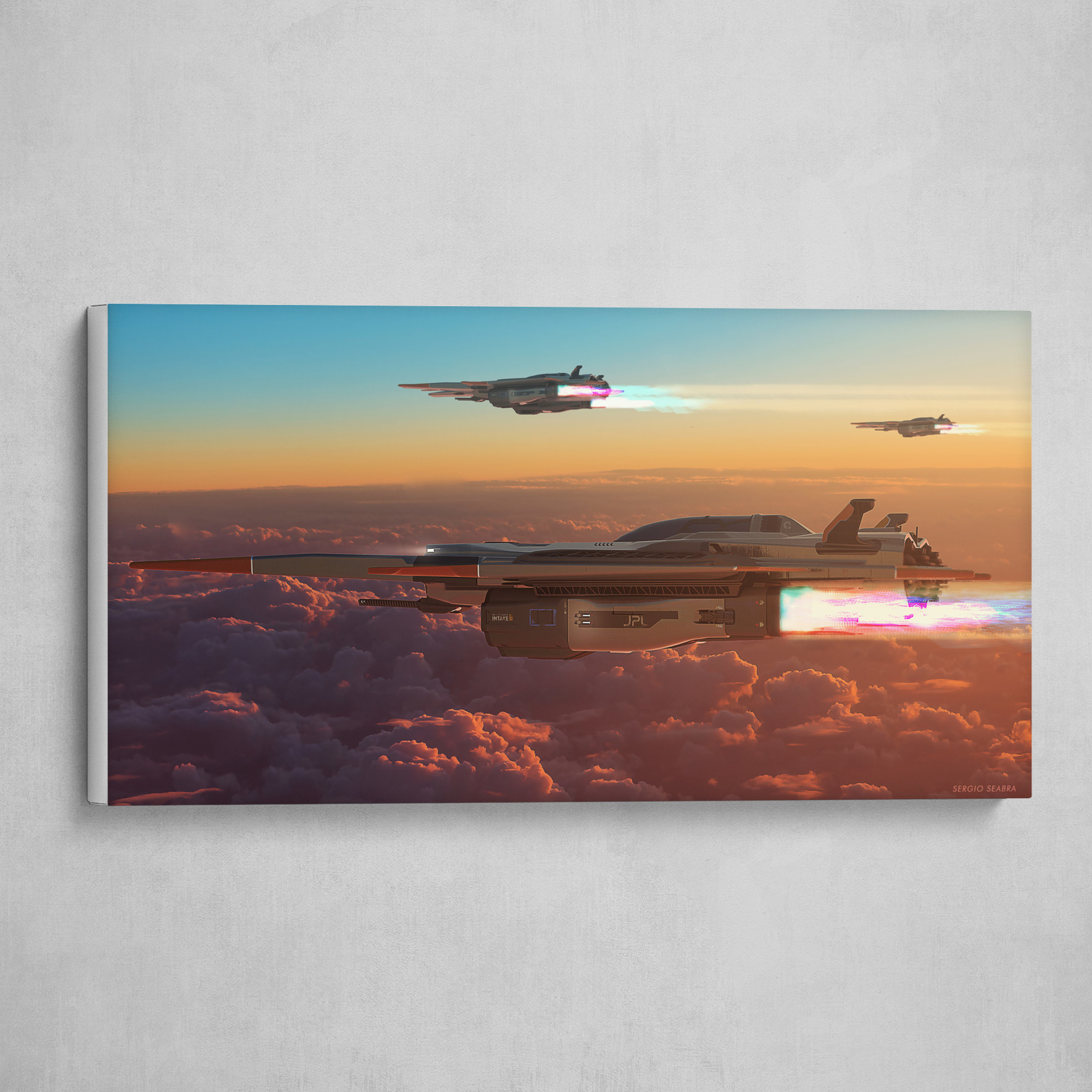 M27 Fighter Jets Sunset