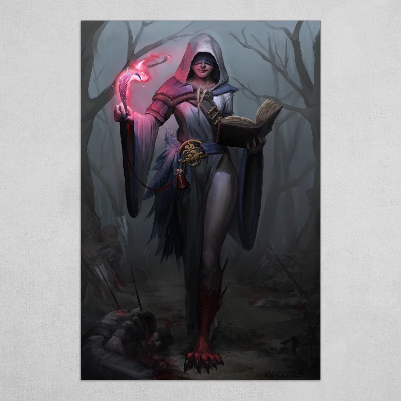 Demonic Priestess Fantasy Artwork