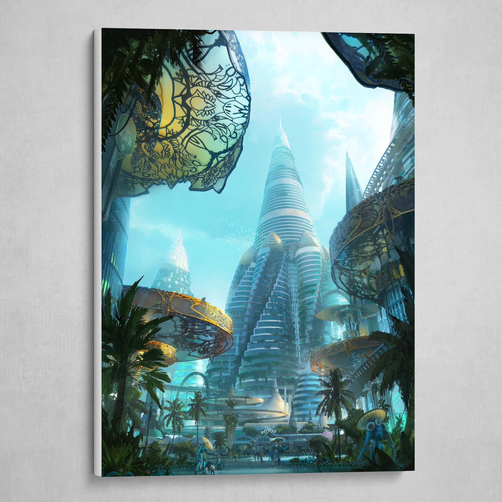 Solarpunk city