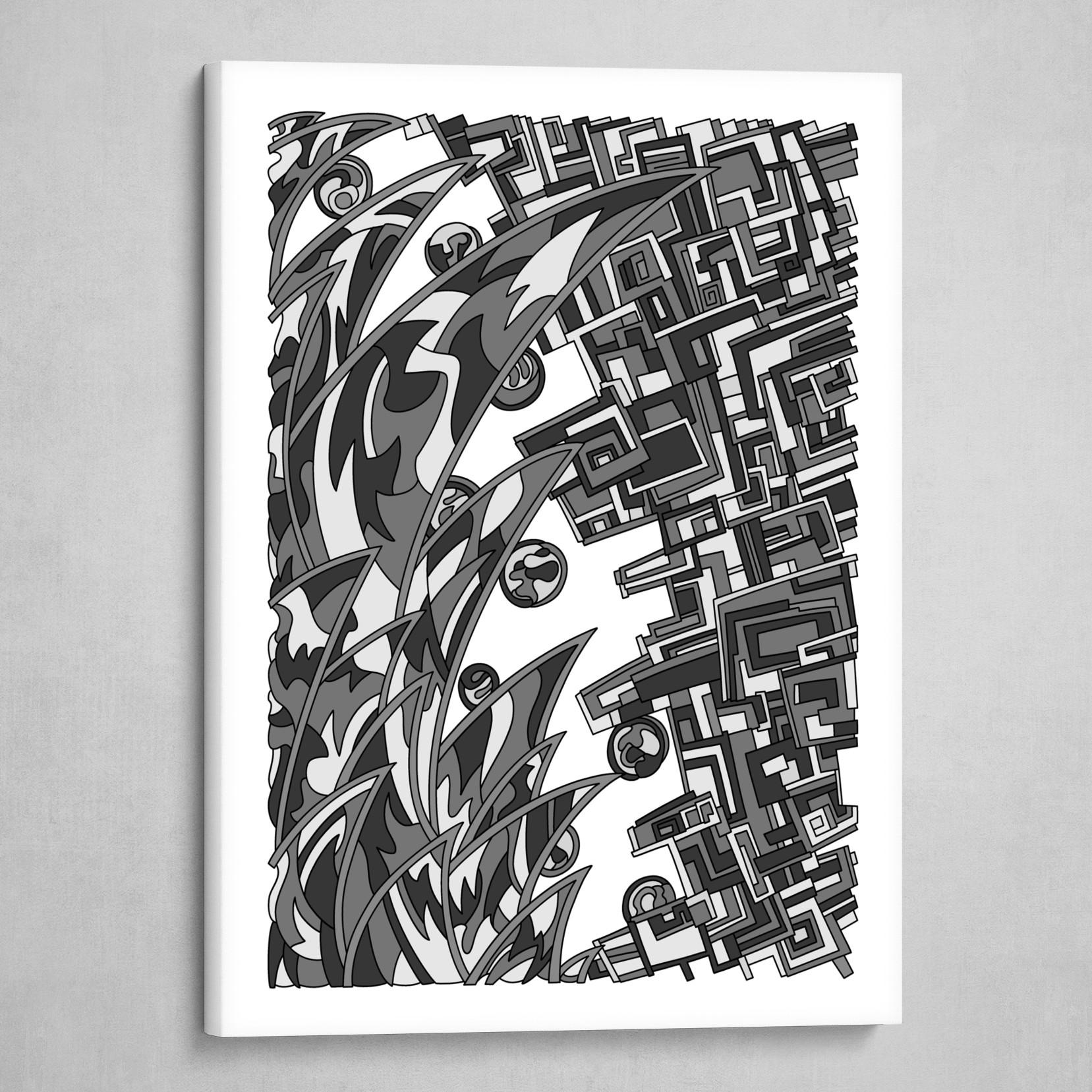 Wandering 18: grayscale