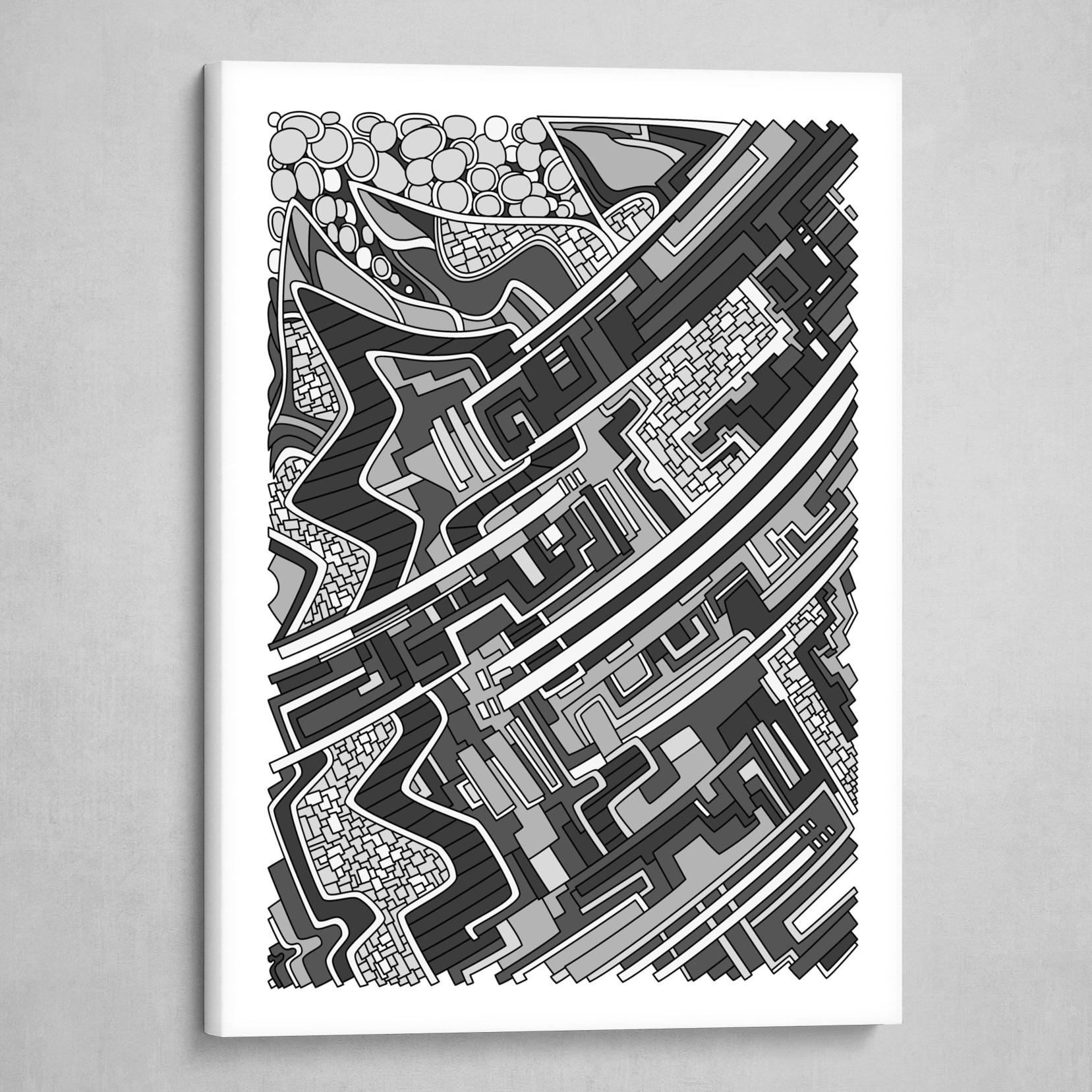 Wandering 28: grayscale