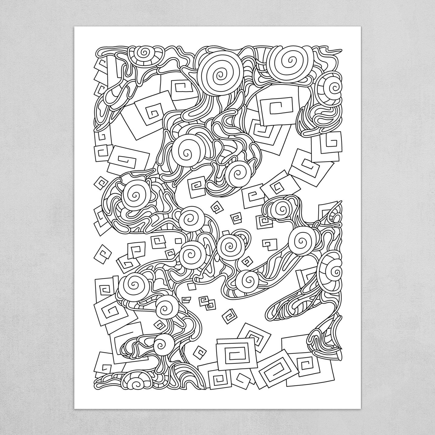 Wandering Abstract Line Art 29: Black & White