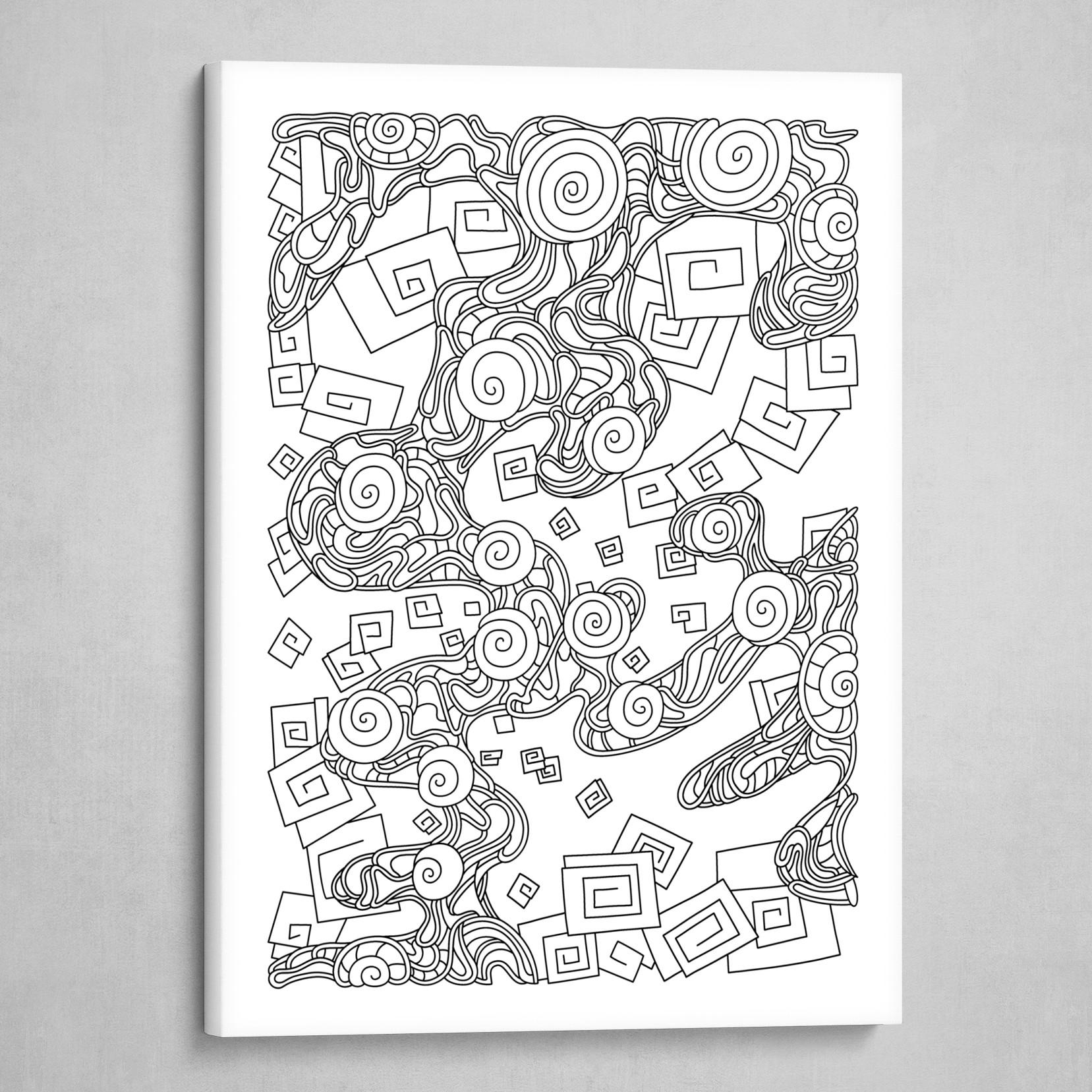 Wandering 29: black & white line art