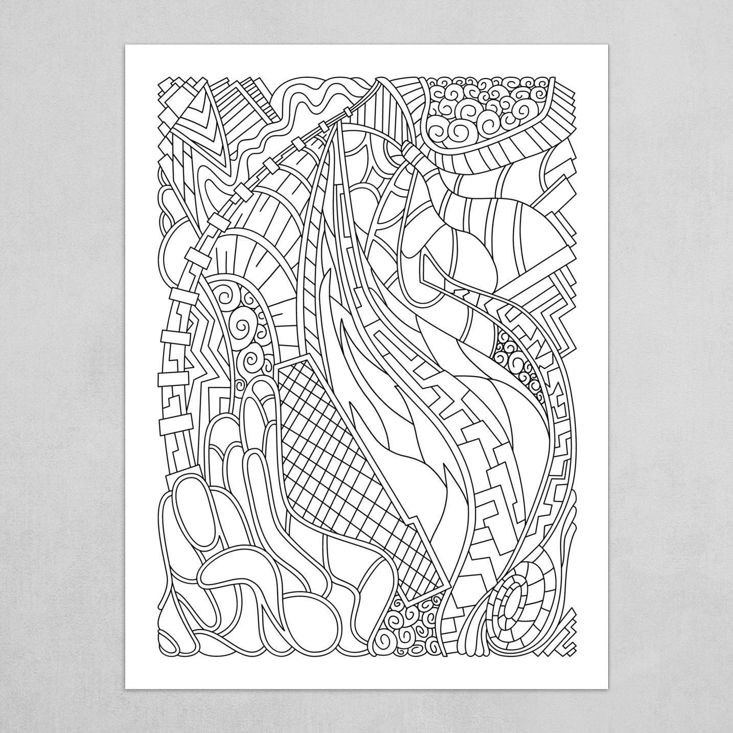 Wandering Abstract Line Art 31: Black & White