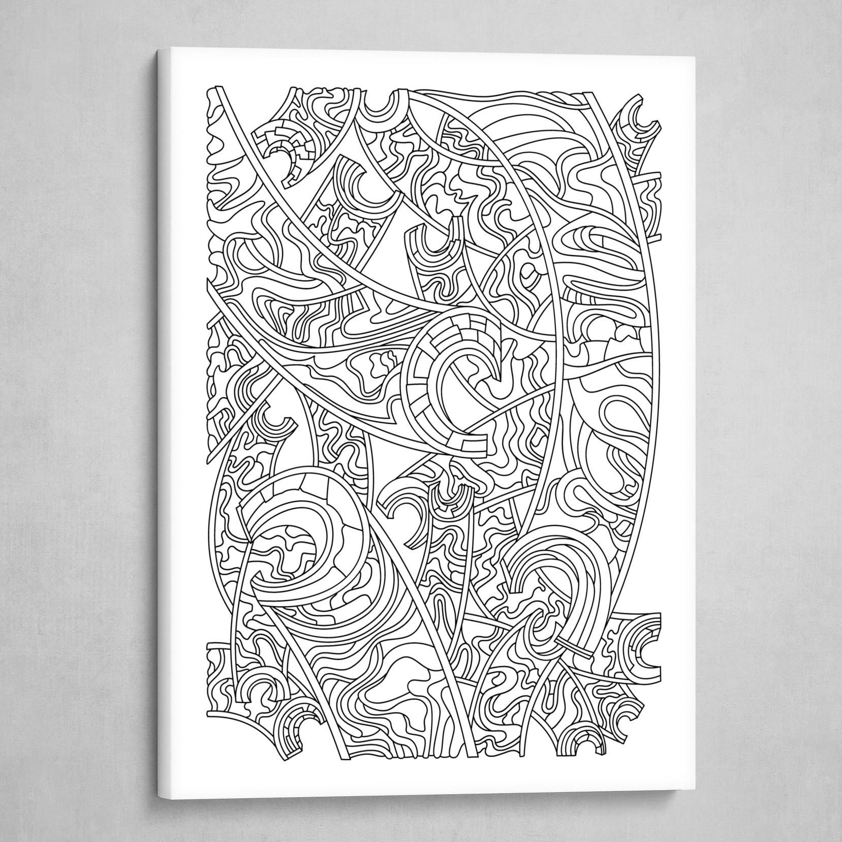 Wandering 32: black & white line art