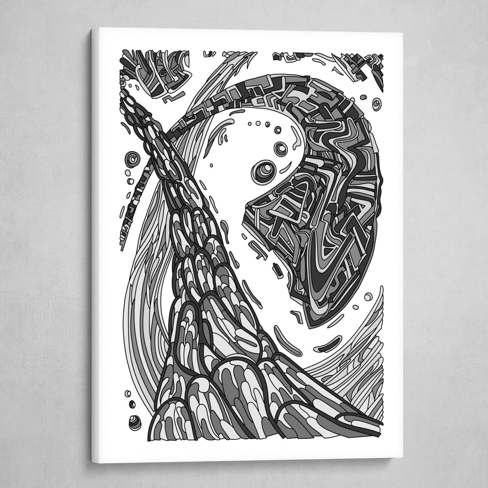 Wandering 35: grayscale