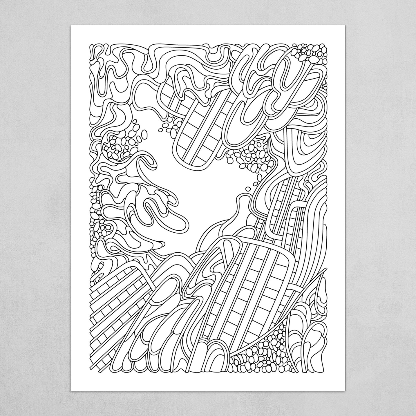 Wandering Abstract Line Art 36: Black & White