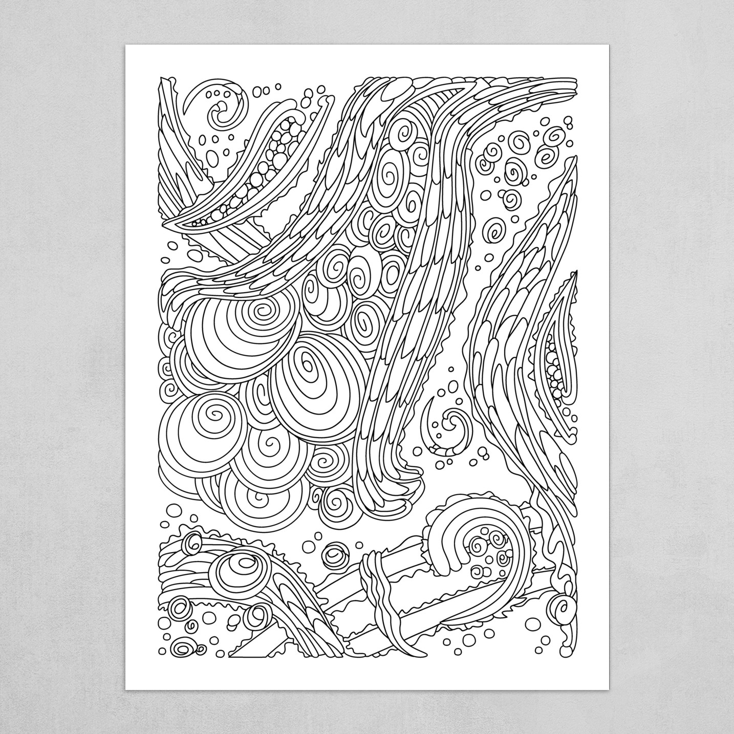 Wandering Abstract Line Art 38: Black & White