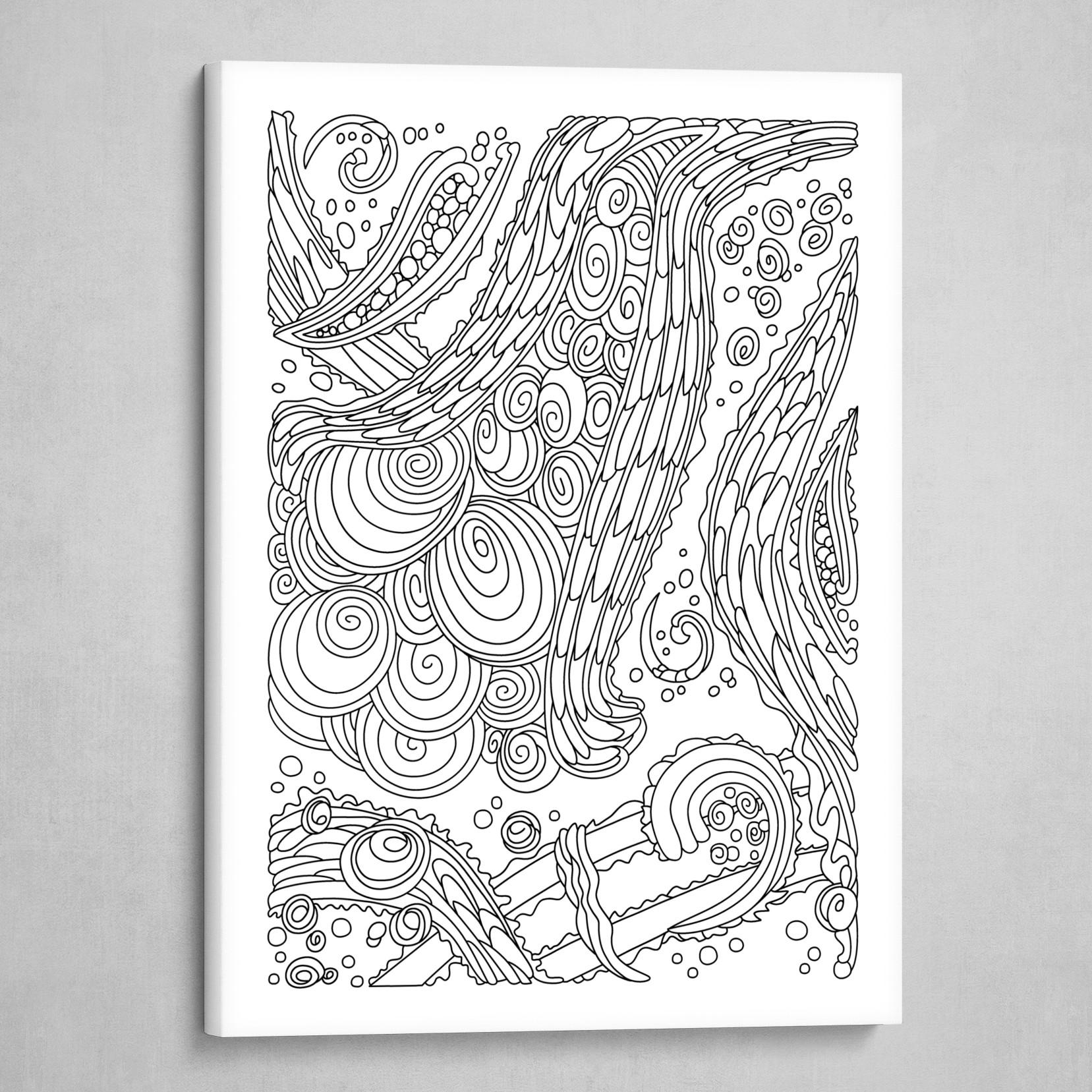 Wandering 38: black & white line art