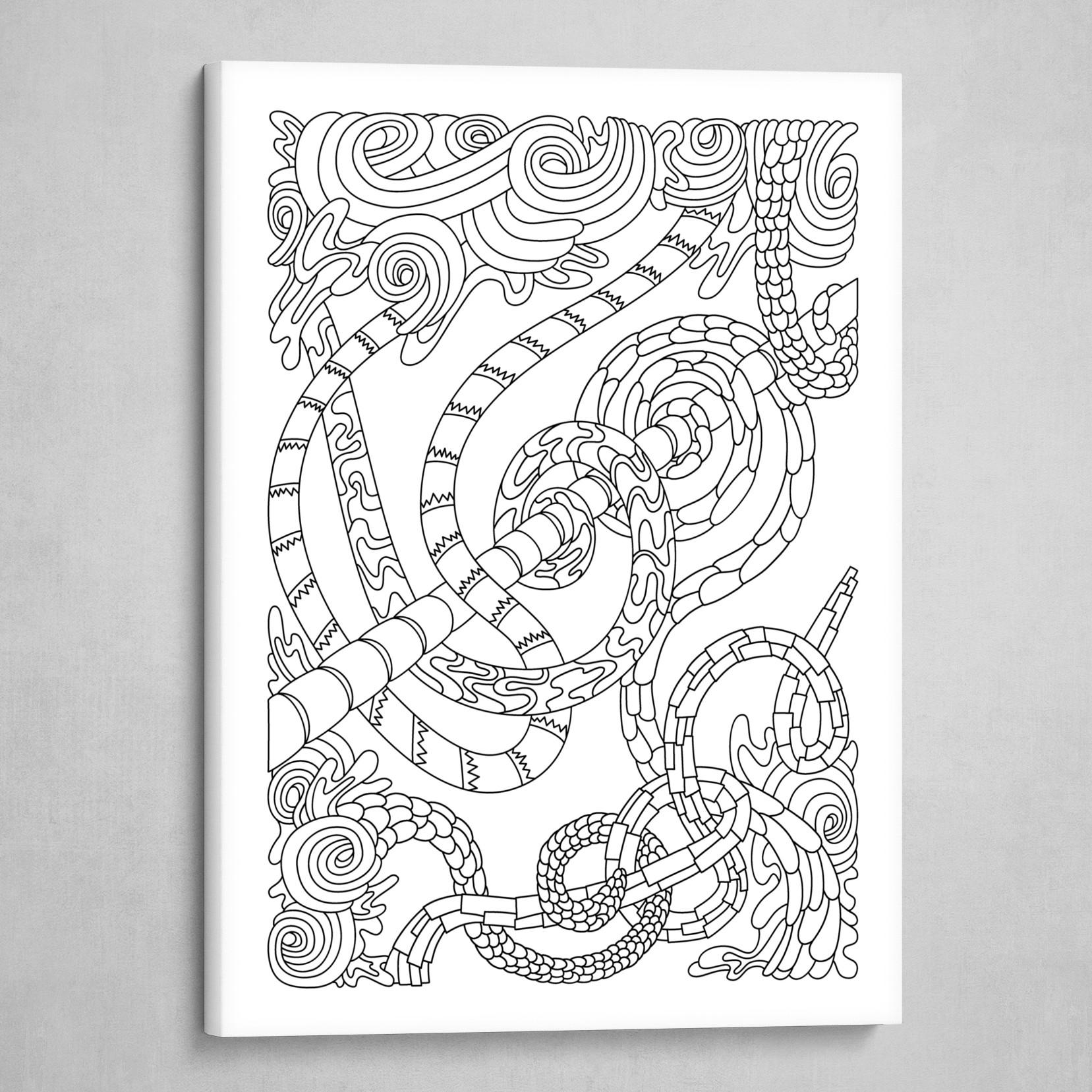 Wandering 46: black & white line art