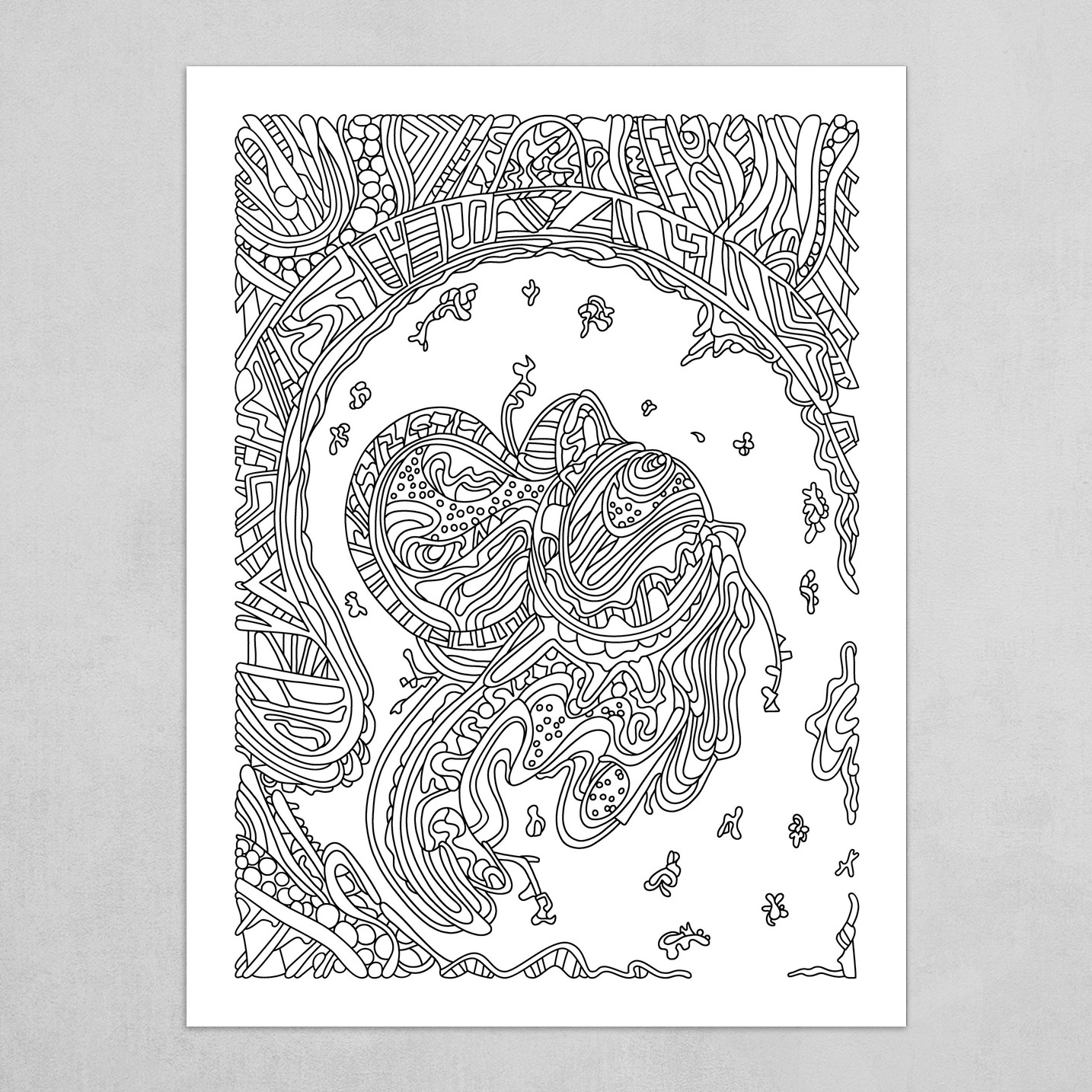 Wandering Abstract Line Art 50: Black & White