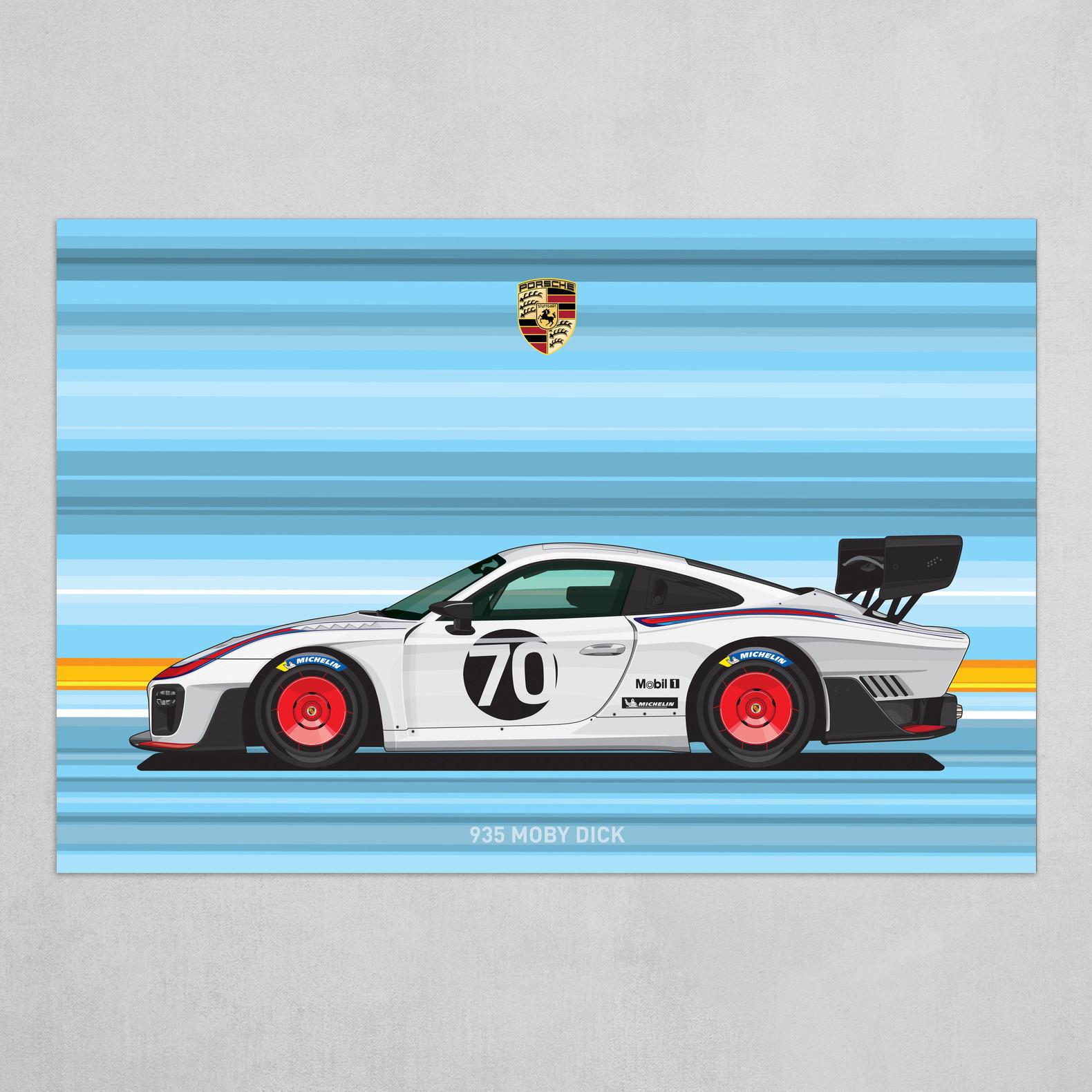 Srattha Nualsate Porsche 935 Car Flat Vector