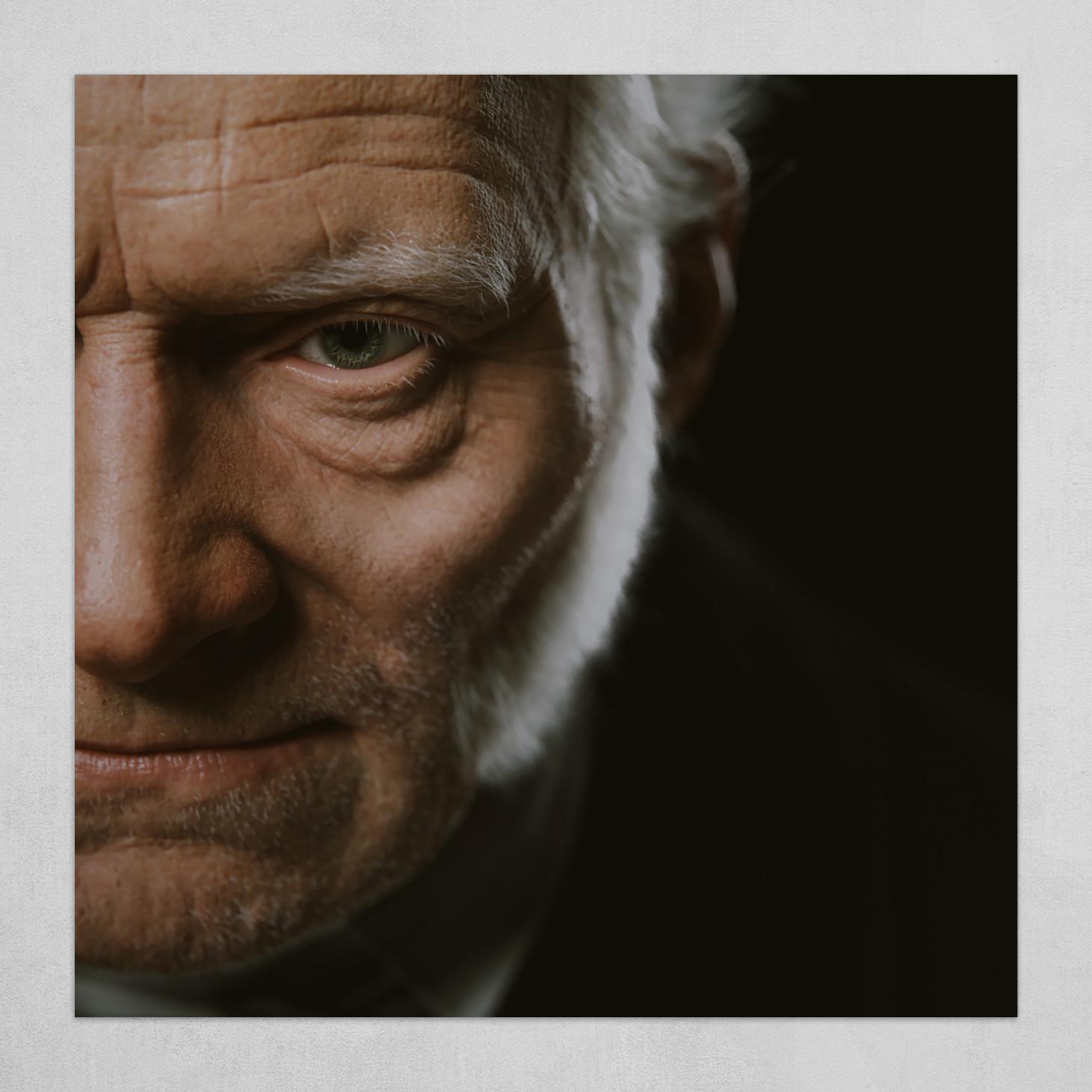 Arthur Schopenhauer Digital Bust #3