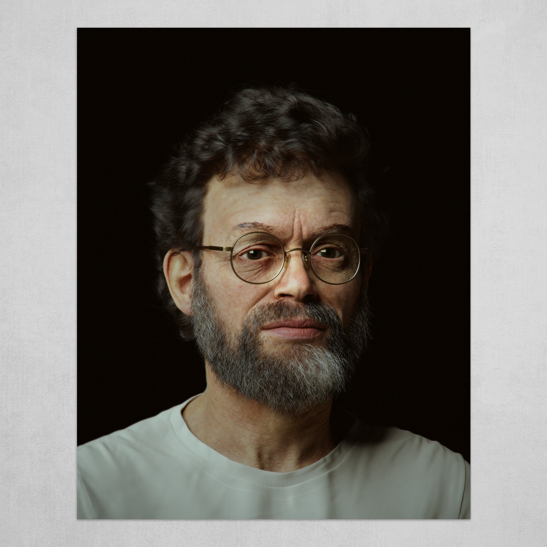 Terence Mckenna Digital Bust #1