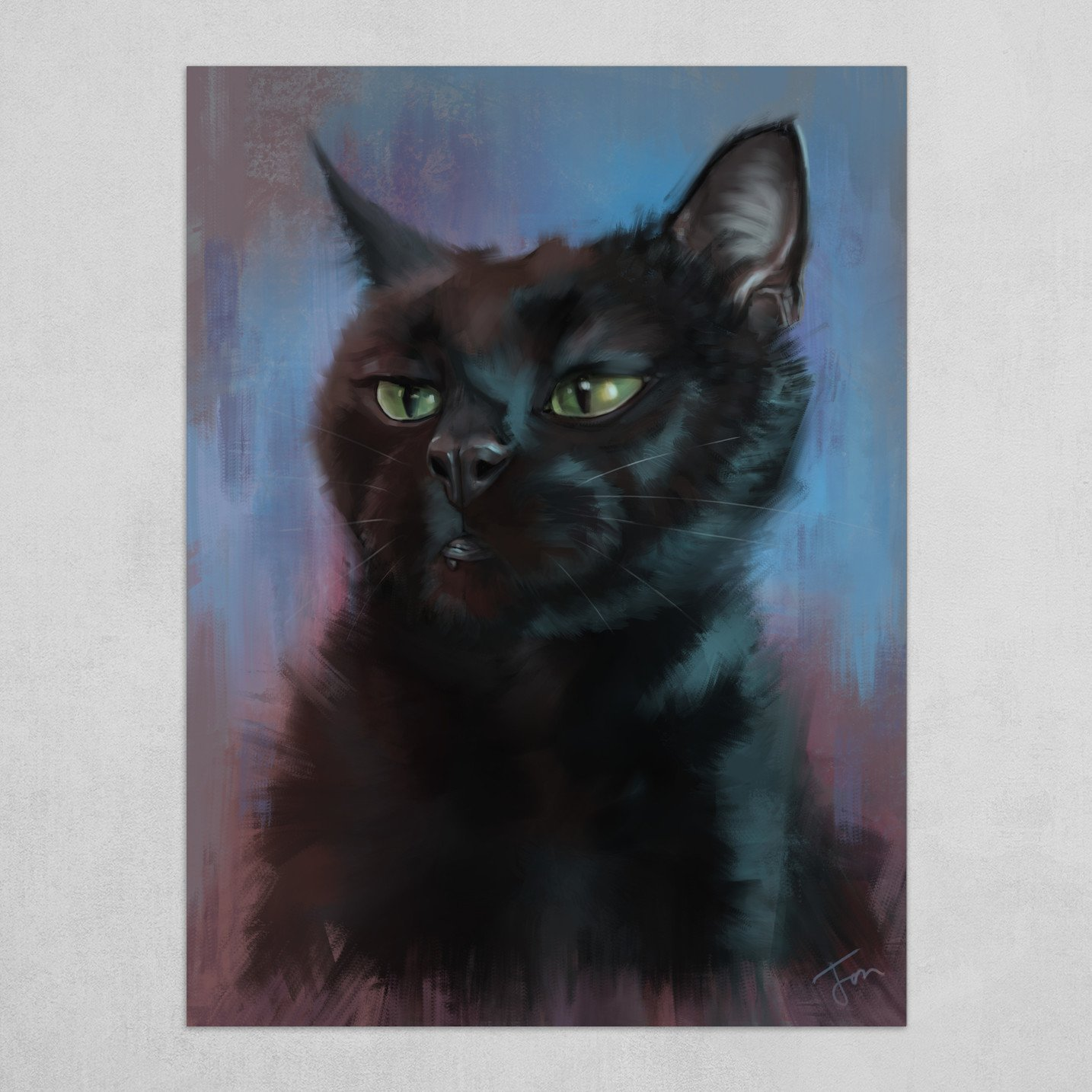 'Chewie' The Cat Painting
