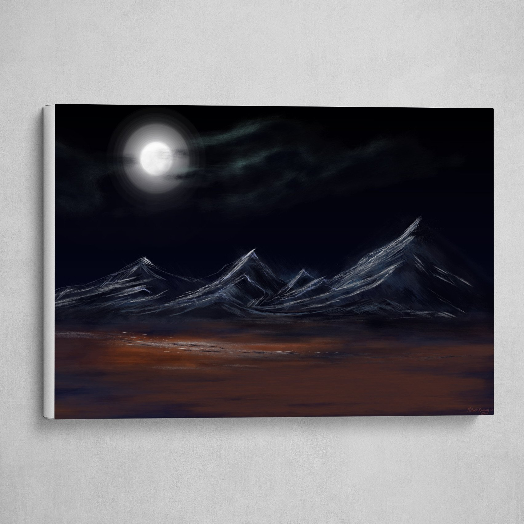 Tibetan Range under Moonlight