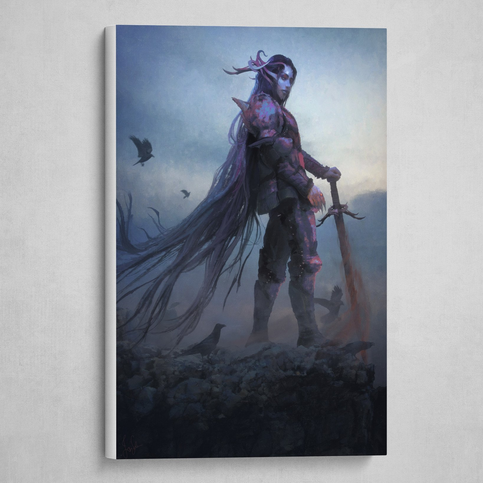 Morrigan Canvas Print By Josu Solano Personalize it with photos & text or purchase as is! artstation