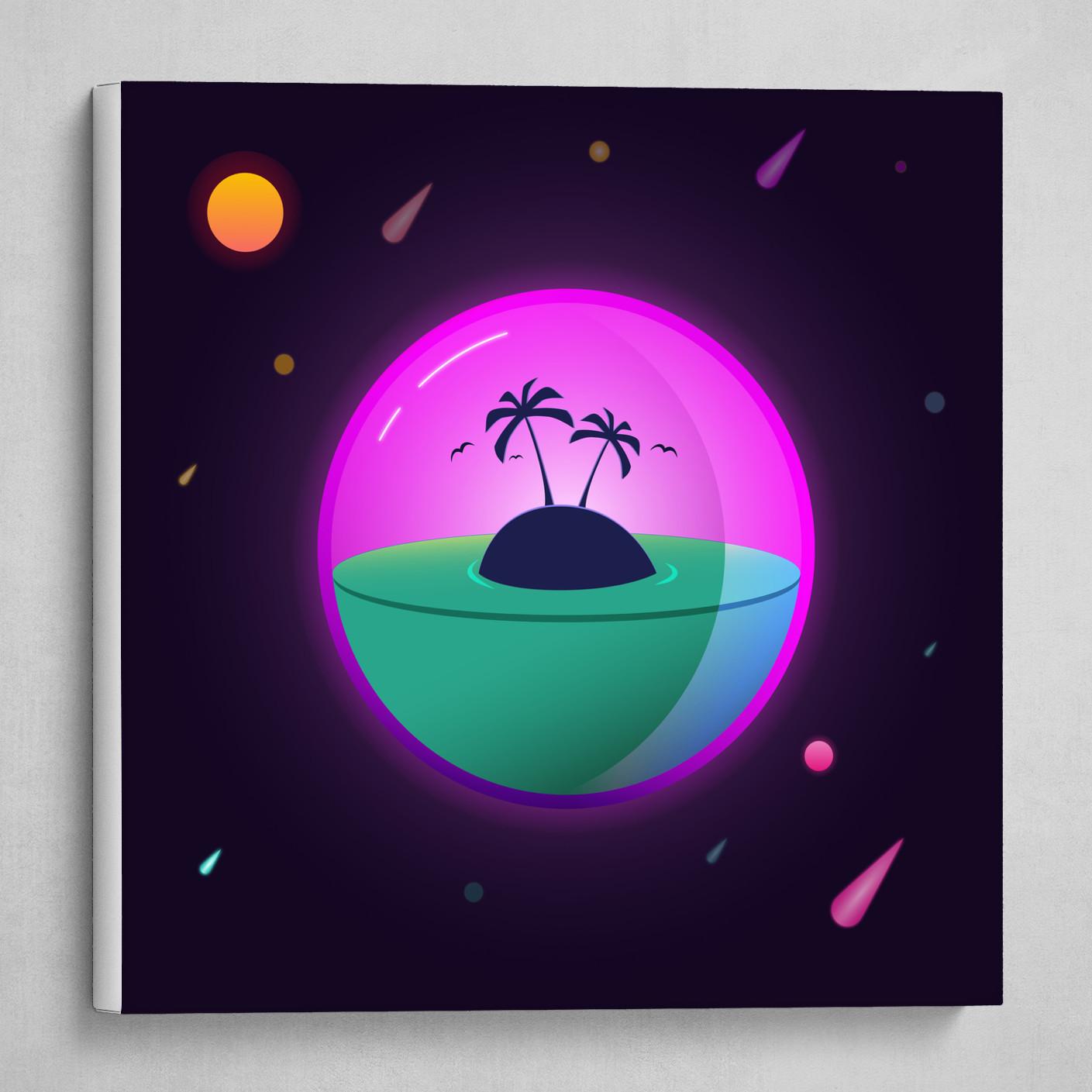 Island in glassplanet