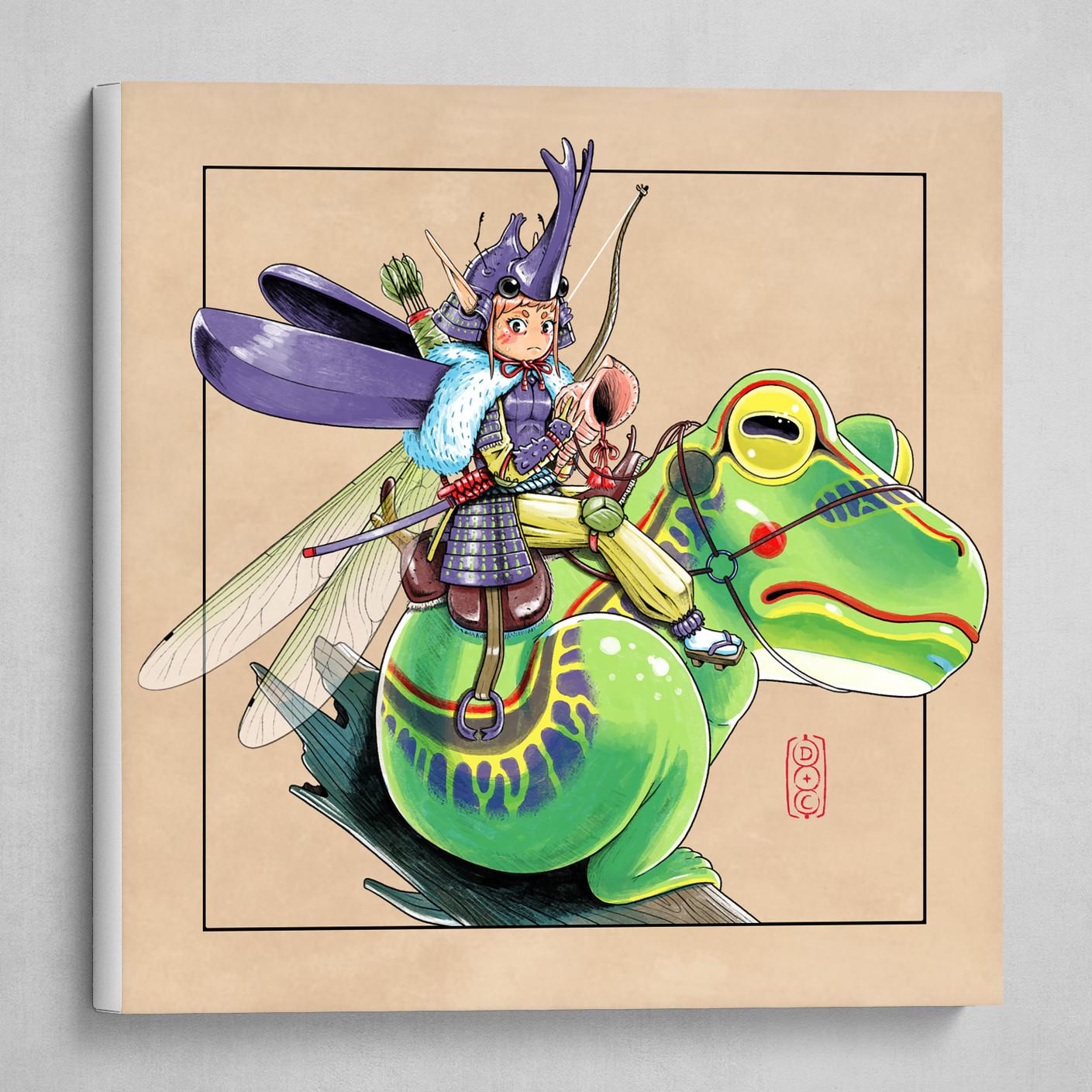 Samurai Fairy - Beige background