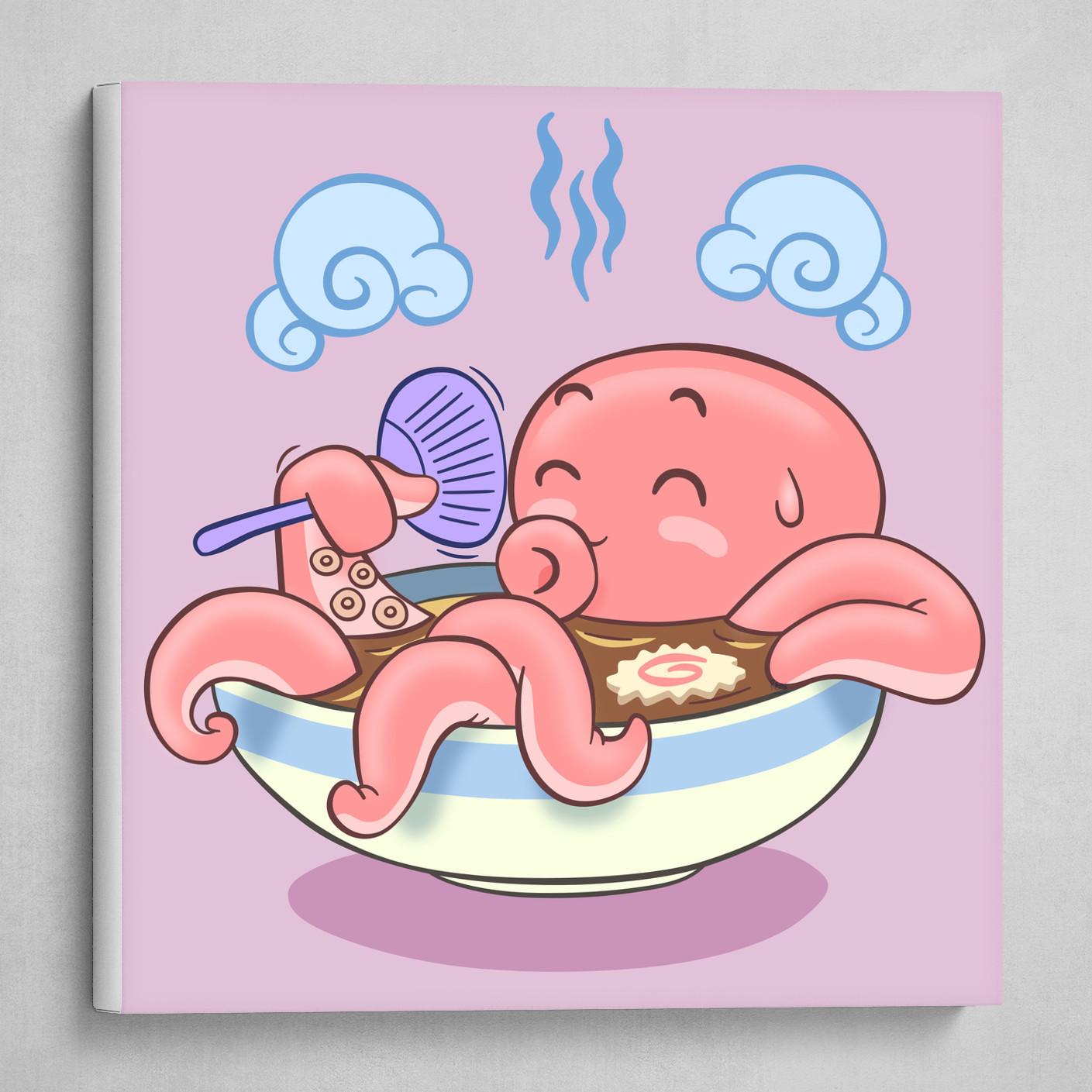 Octopus soaks in Miso soup