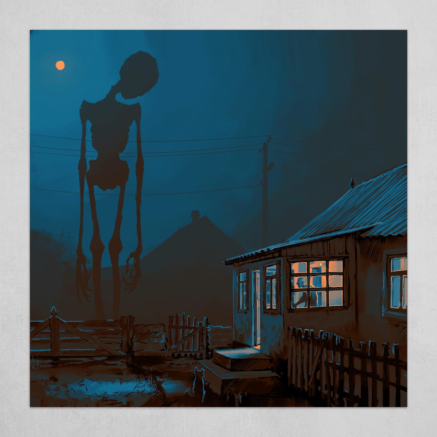 Night in a village