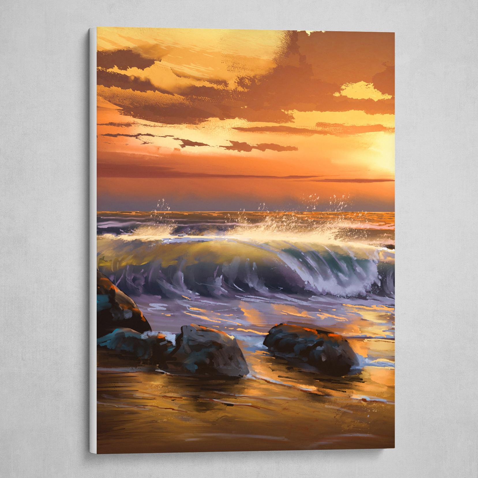 Waves-Sunset