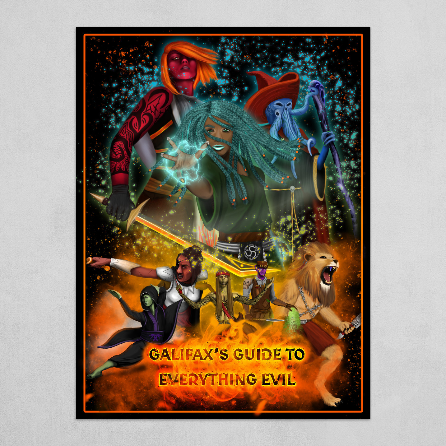 Galifax's Guide To Everything Evil Poster