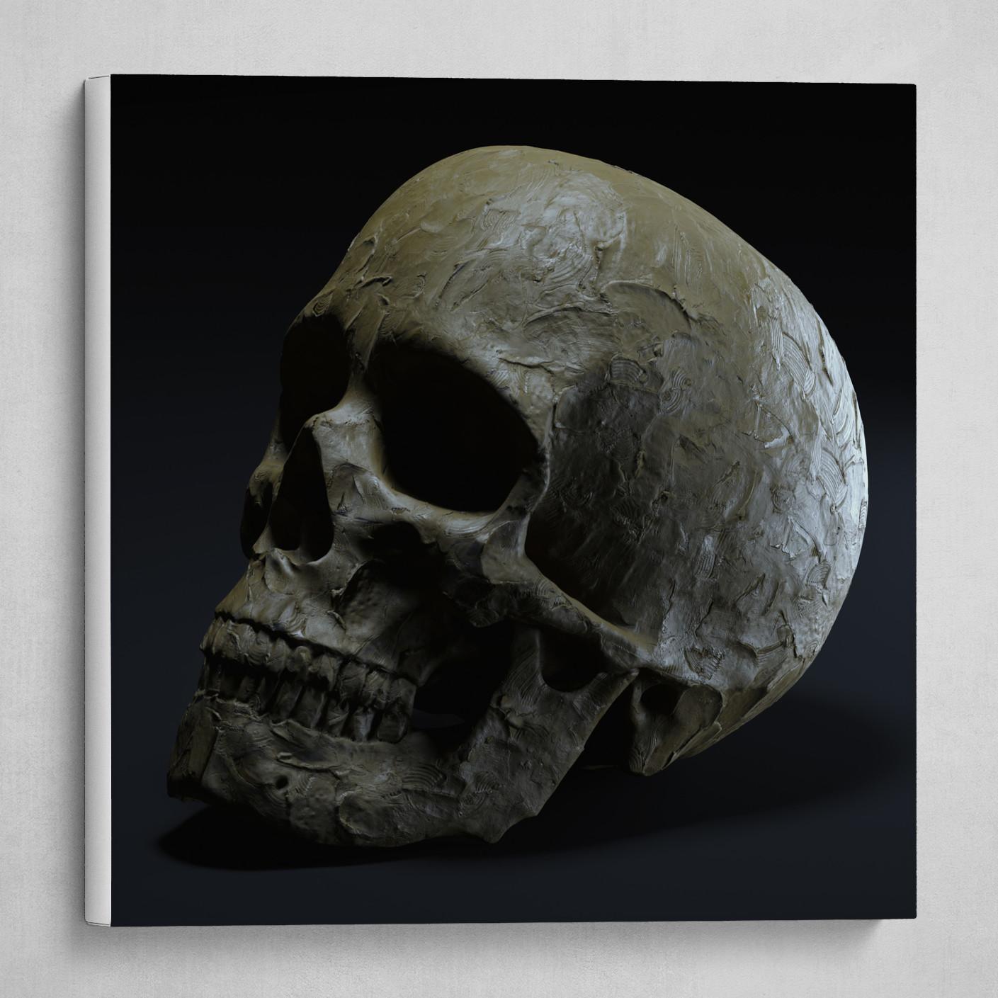 Clay Skull #2