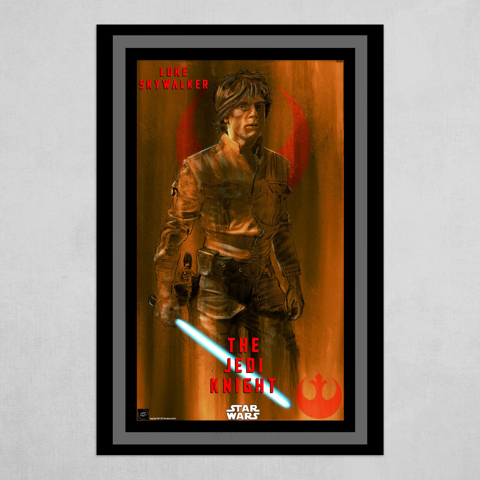 Luke Skywalker-The Jedi Knight Poster