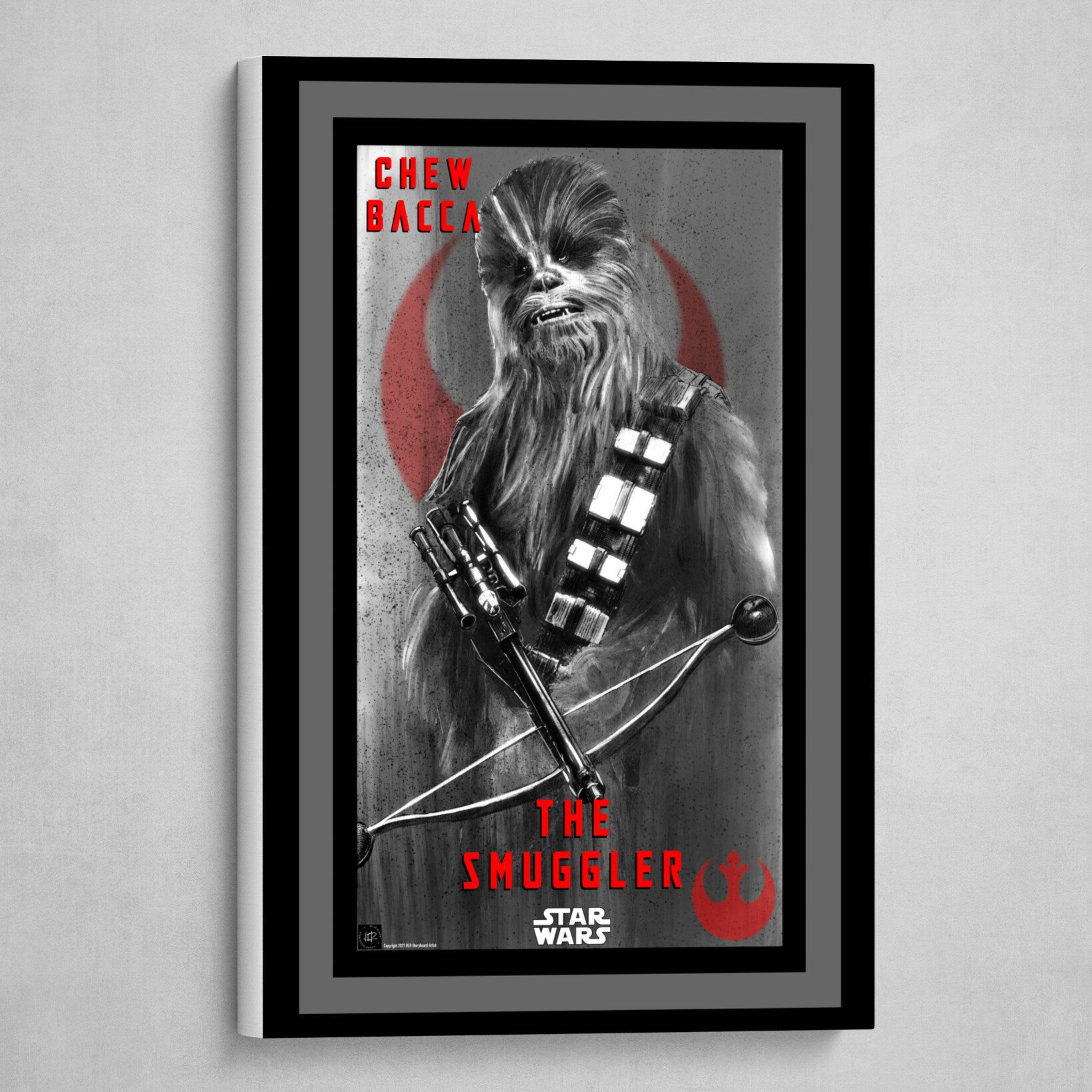 Chewbacca Poster in B&W with Red