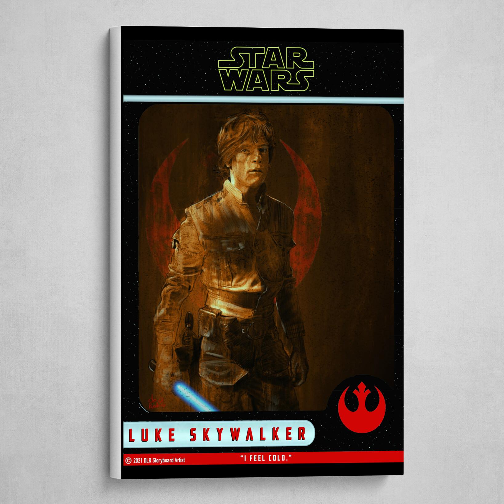 Luke Skywalker Poster (Trading Card Style)