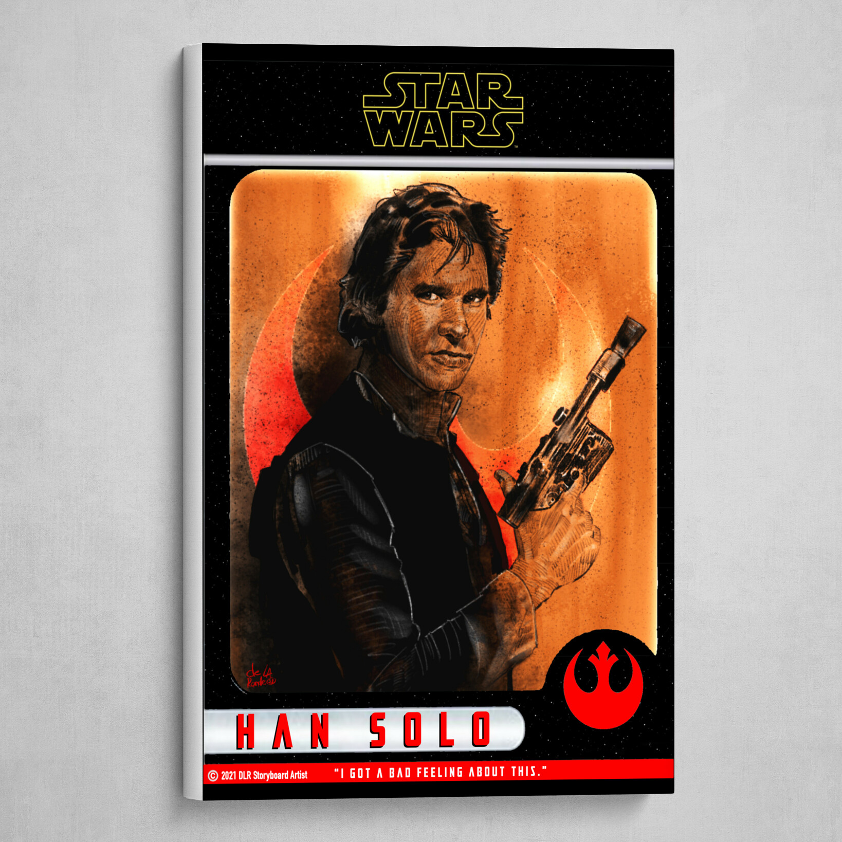 Han Solo Poster (Trading Card Style)