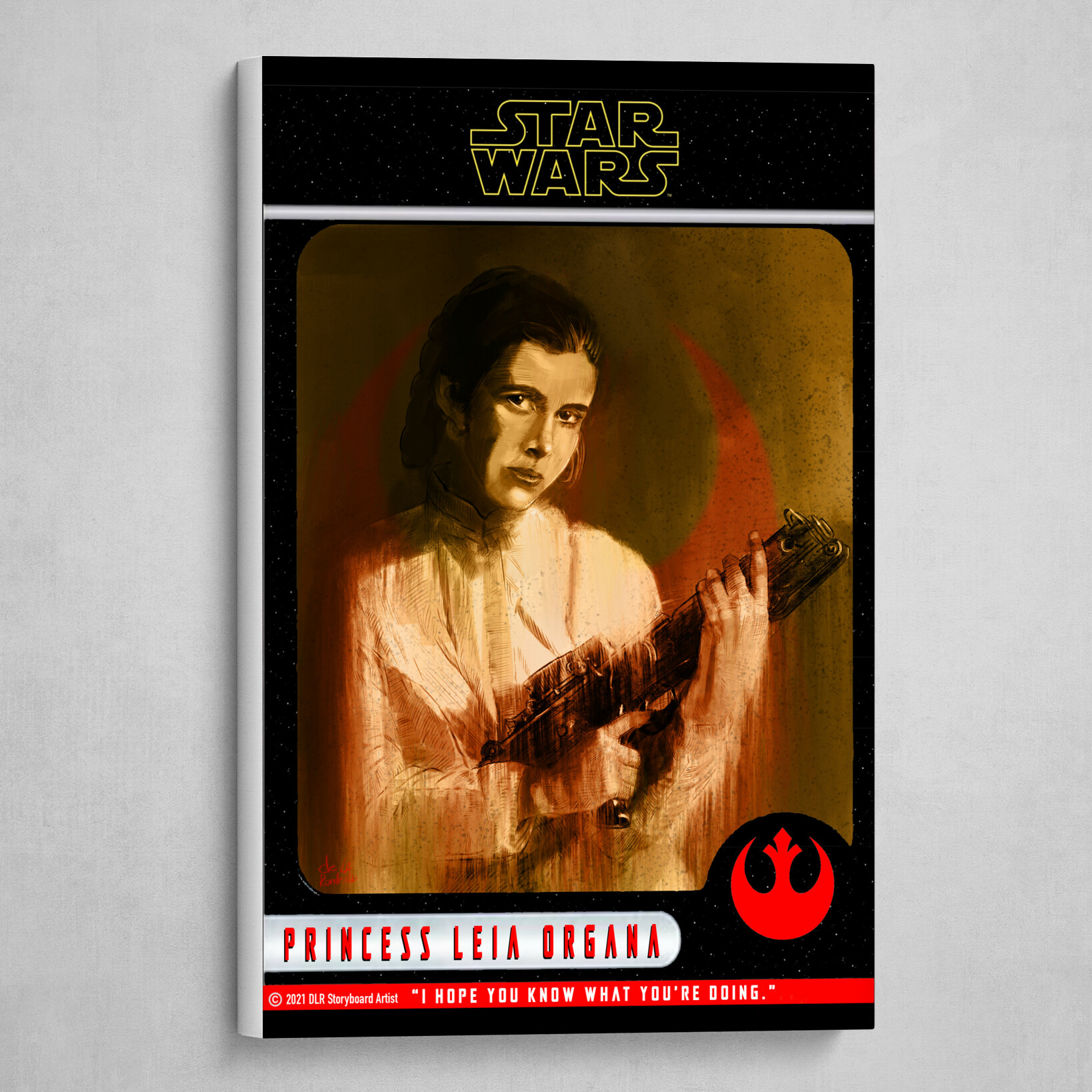 Princess Leia Poster (Trading Card Style)