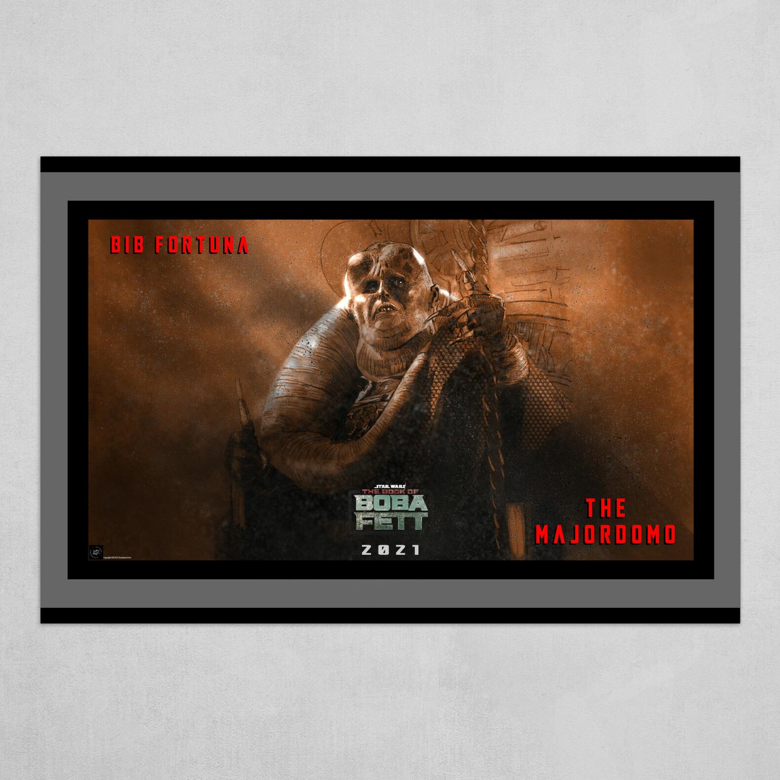 The Majordomo Bib Fortuna Poster