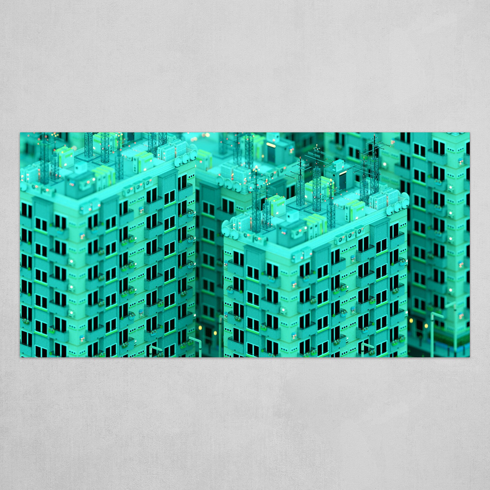 Voxel City n°2- Day