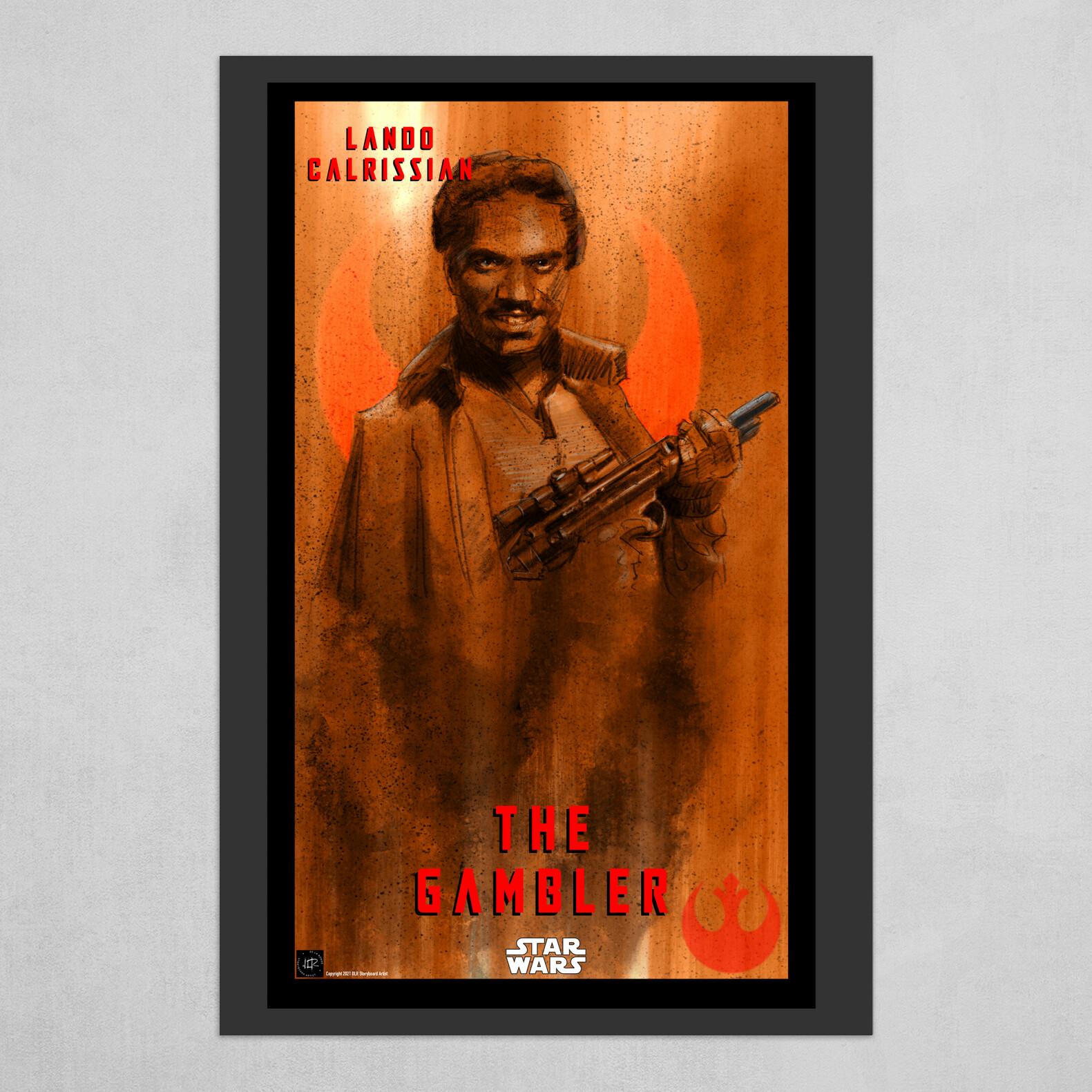 Lando Calrissian Poster -The Gambler