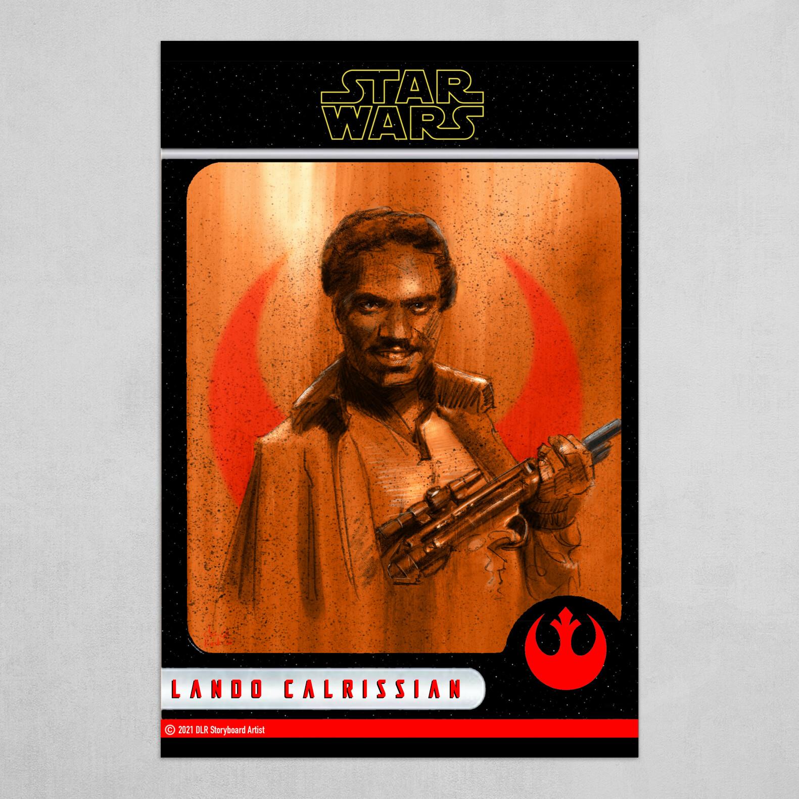 Lando Calrissian Poster (Trading Card Style)