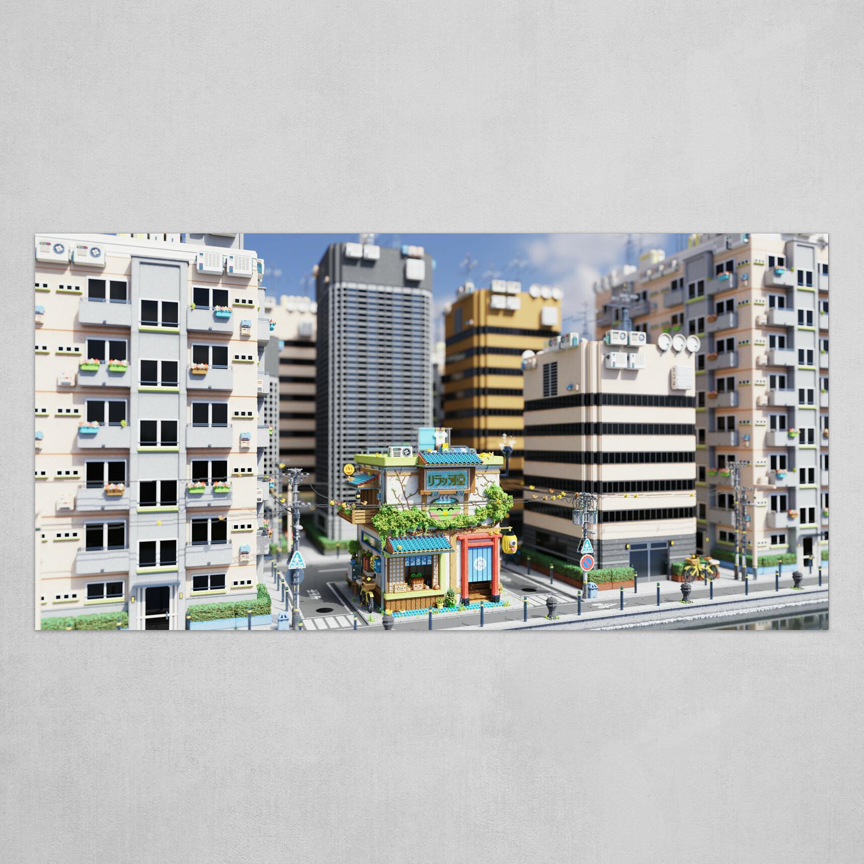 Voxel - Onsen Street - Day 01
