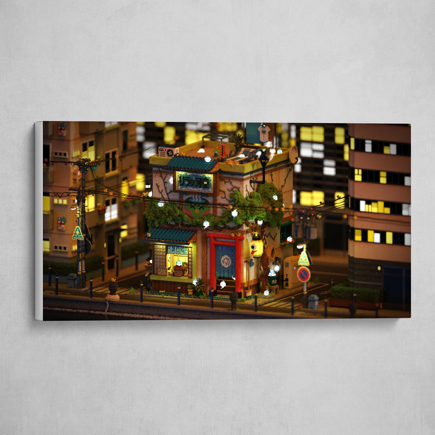 Voxel - Onsen Street - Night 04