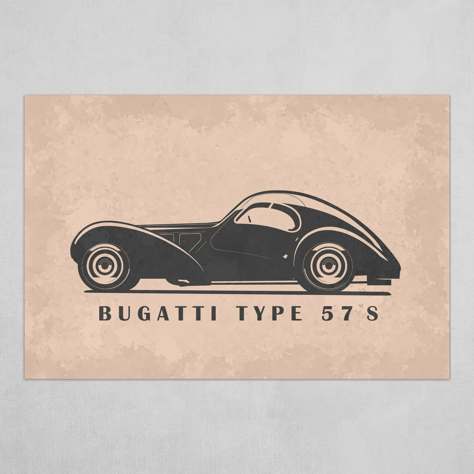 Bugatti Type 57 S Car Collection Art Poster By Design Wood